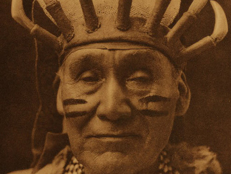 Obsidian bearer, White deerskin dance - Hupa, 1923 by Edward Curtis in Vol 13 of The North American