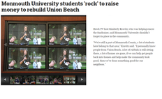 Kimberly Kravitz Hosts at Monmouth University's 'Rock & Raise' for Hurricane Sandy R