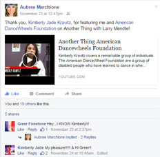 Kravitz covers the 'American DanceWheel Foundation' after performing for Pope Francis