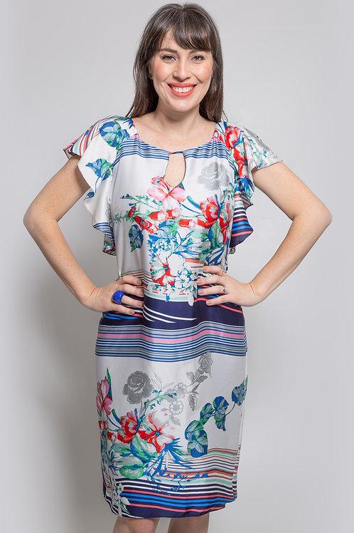 Vestido Satin Floral - 5X R$27,86