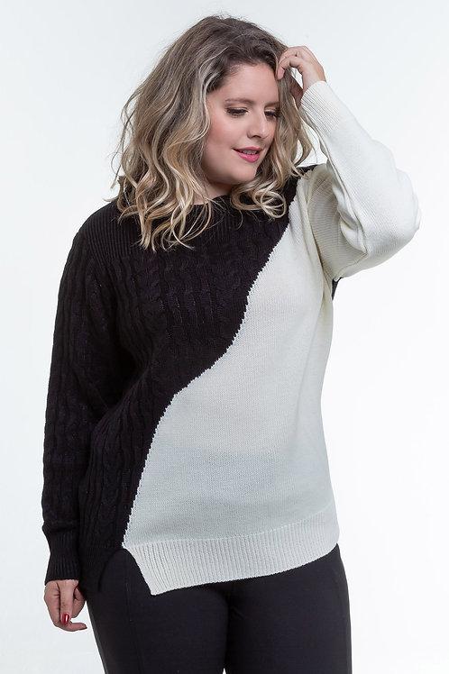 Sweater Bicolor - 5X R$23,88