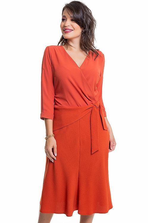 Vestido Nesgas Crepe - 5X R$69,80