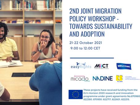 Designing Digital (Im)migration Services: Join the Joint Migration Workshop on October 21-22.