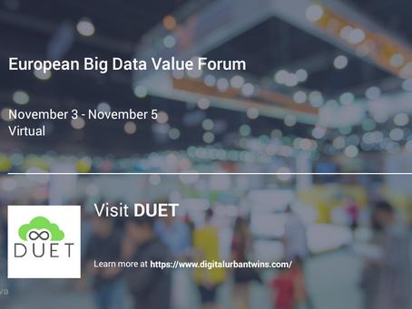 DUET at European Big Data Value Forum