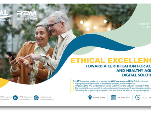 New webinar on Ethics and Privacy in Active Assisted Living