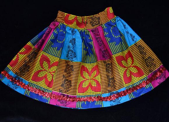 Vibrant Umbrella Skirt