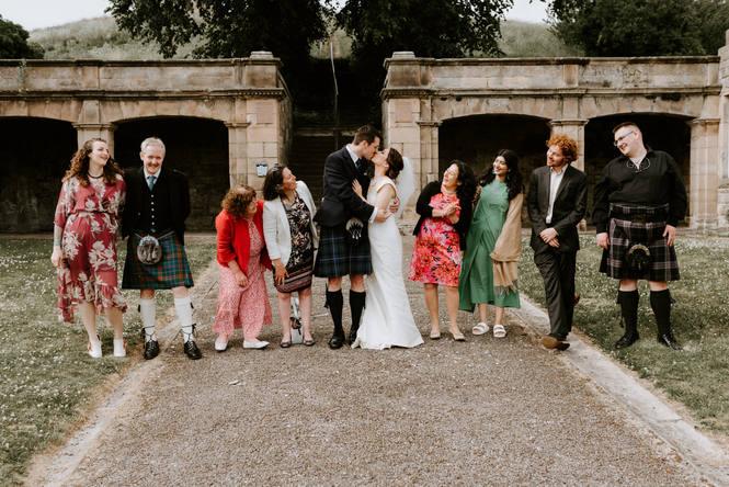 wedding at lady hill, elgin, moray