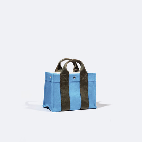 TOTE S - Light blue Flannel