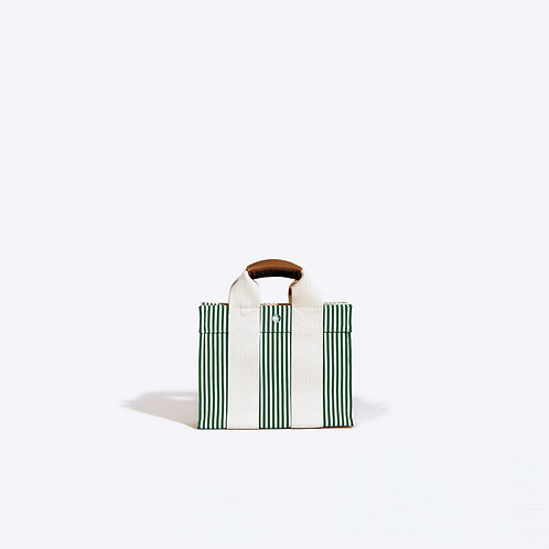 BABY TOTE - Green Stripes