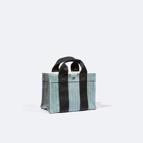 TOTE S - Powder Blue Striped Flannel