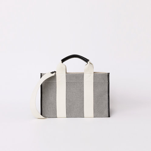 MINI TOTE - White Oxford