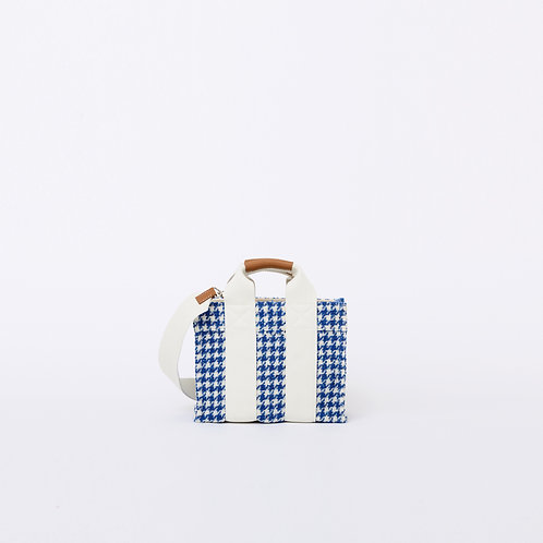TOTE XS - Blue Houndstooth