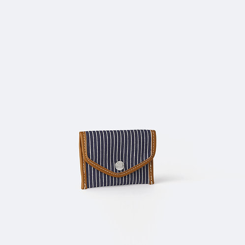 ENVELOPPE XS - Navy Fine Stripes