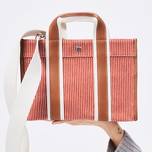 TRAVELLER S - Orange Fine Stripes