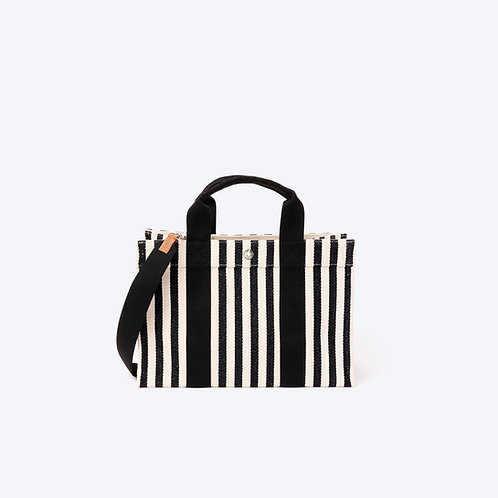 MINI TOTE - Black Stripes