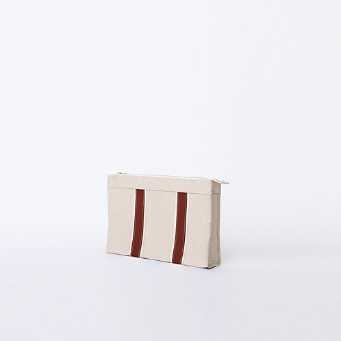 DOCUMENT POUCH - Burgundy Leather