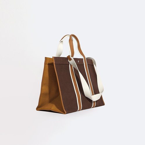 TRAVELLER XL - Chocolate Linen