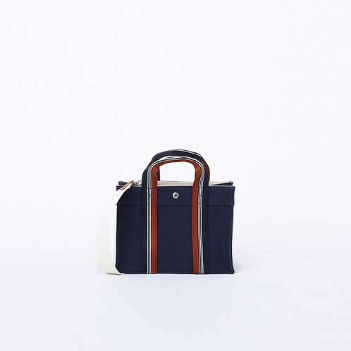 LADY TOTE - Navy Canvas