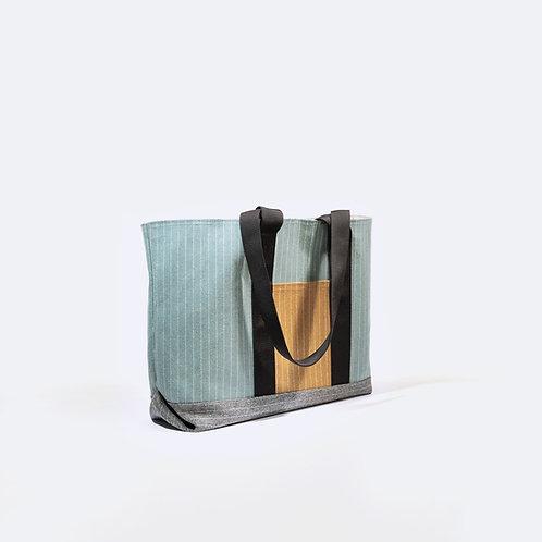 TOOL XL - Powder Blue Striped Flannel