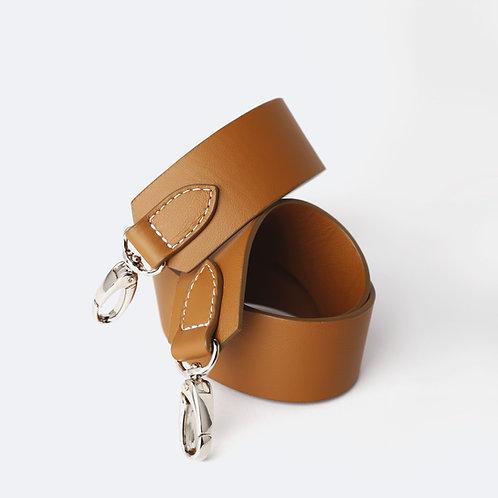 SHOULDER STRAP - Camel Leather