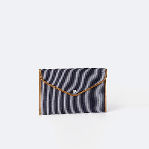 ENVELOPPE M - Navy Fine Stripes