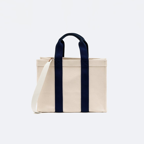 TOTE XL - Navy Woven Webbing