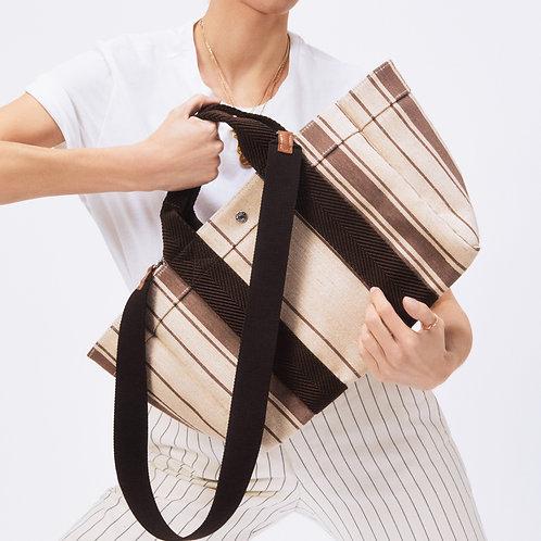 PARCOURS M - Brown Striped Linen
