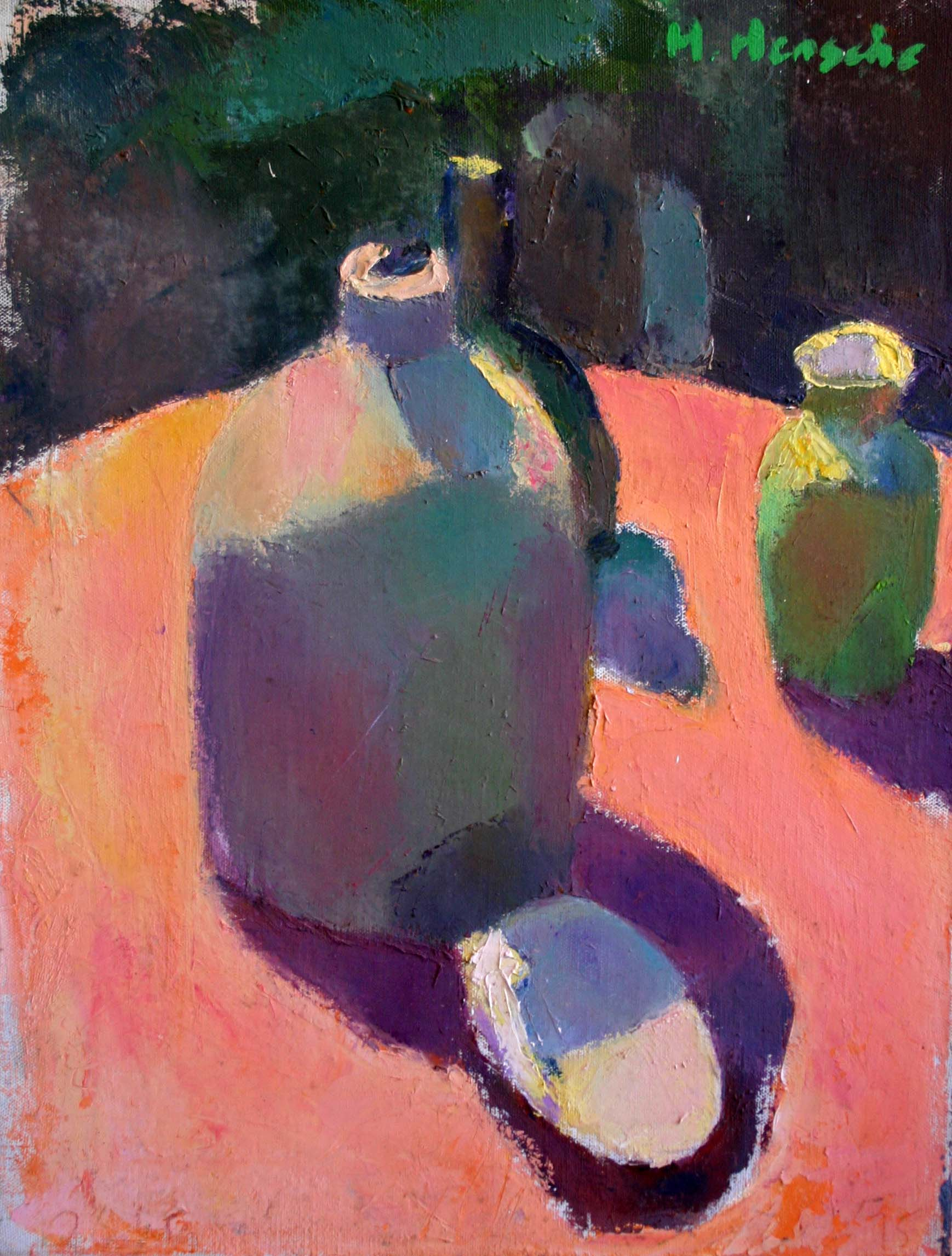 """Still Life with Bottle and Clam Shell"""