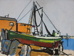 """Green Boat, Orange House"""