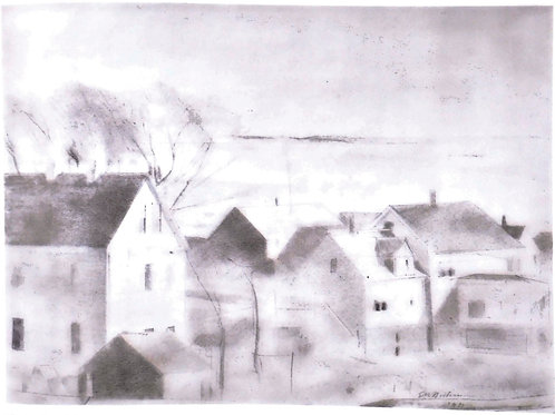 Roof Tops and Harbor, Provincetown by Edwin Dickinson