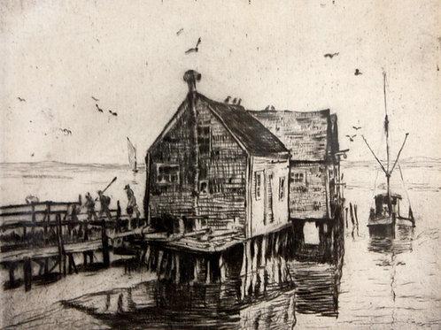 The Oyster Shacks by Albert Edel
