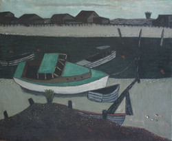 Untitled (Green Boat)