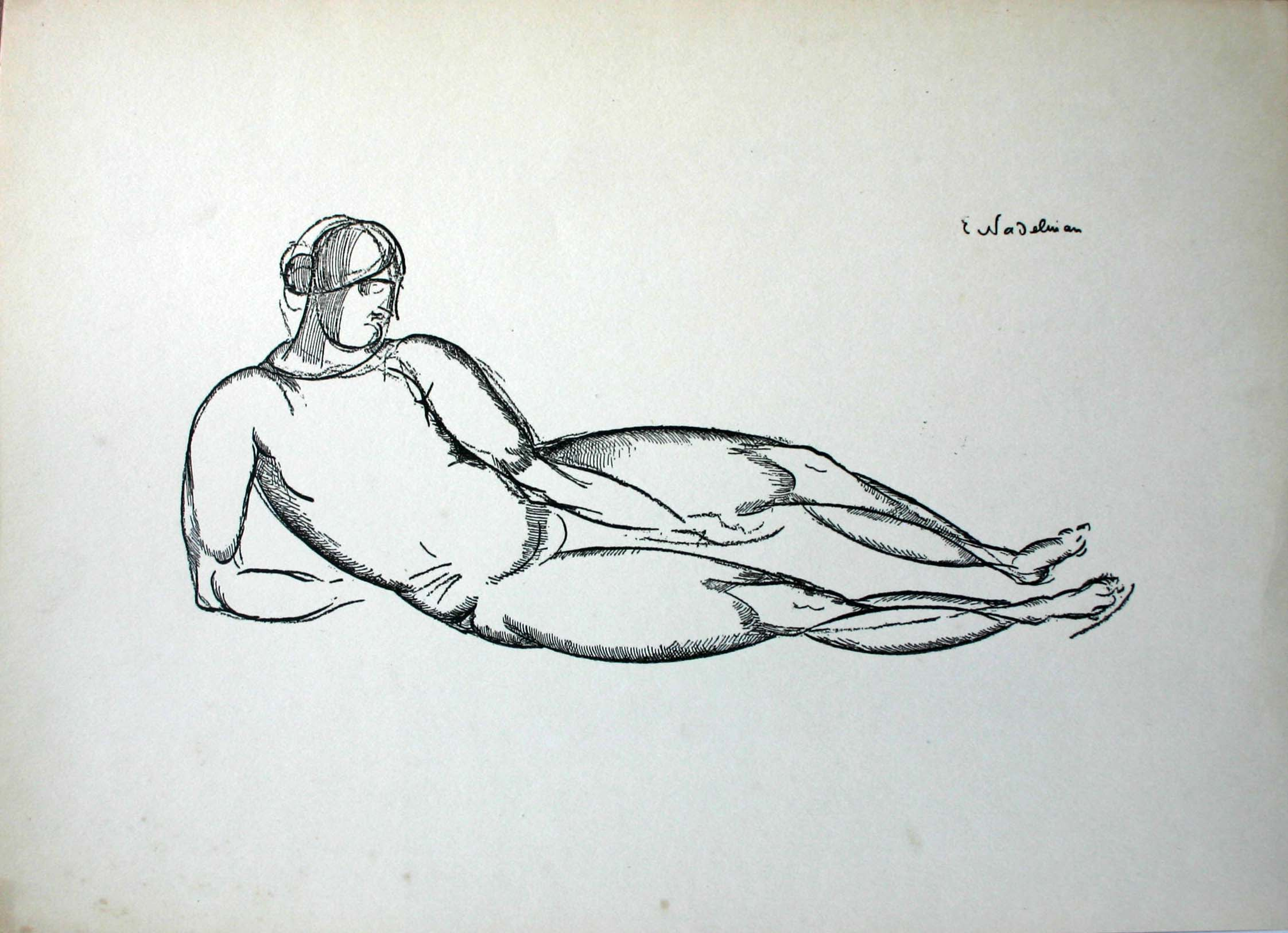 Untitled [Figure Laying Down]