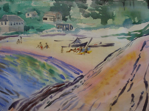Beach Scene by William Zorach