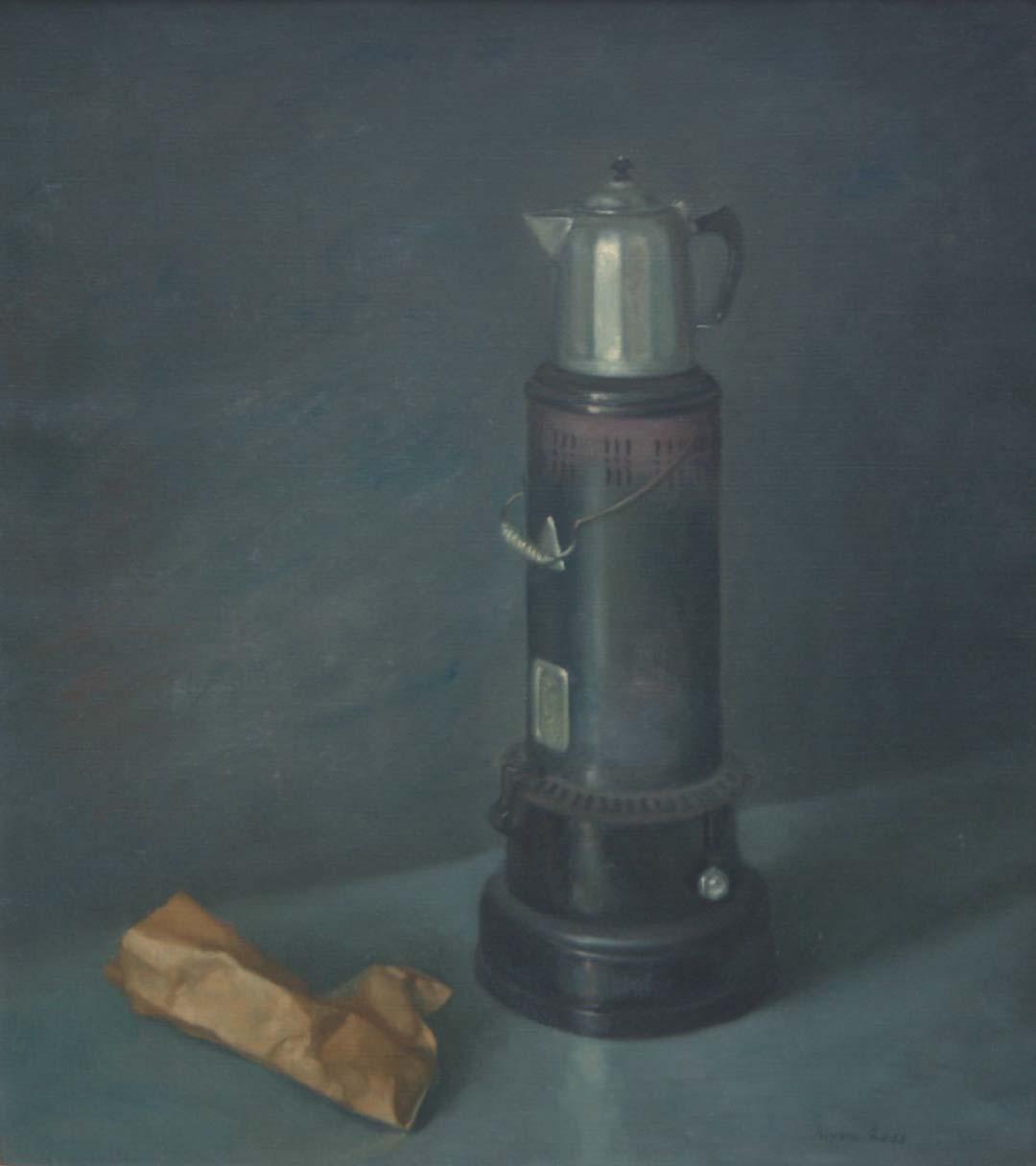 """Kerosene Stove and Coffee Pot"""