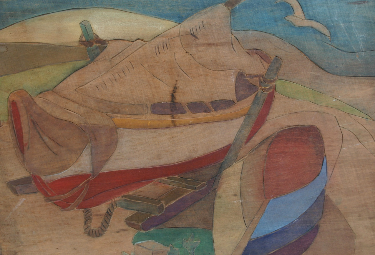 """Two Boats"" (Woodblock)"