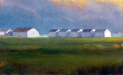 'White Village, Approaching Storm'