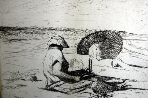 Painting At The Beach by William Bicknell