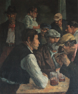 Sol Wilson - Men Drinking - 34x29 $28000