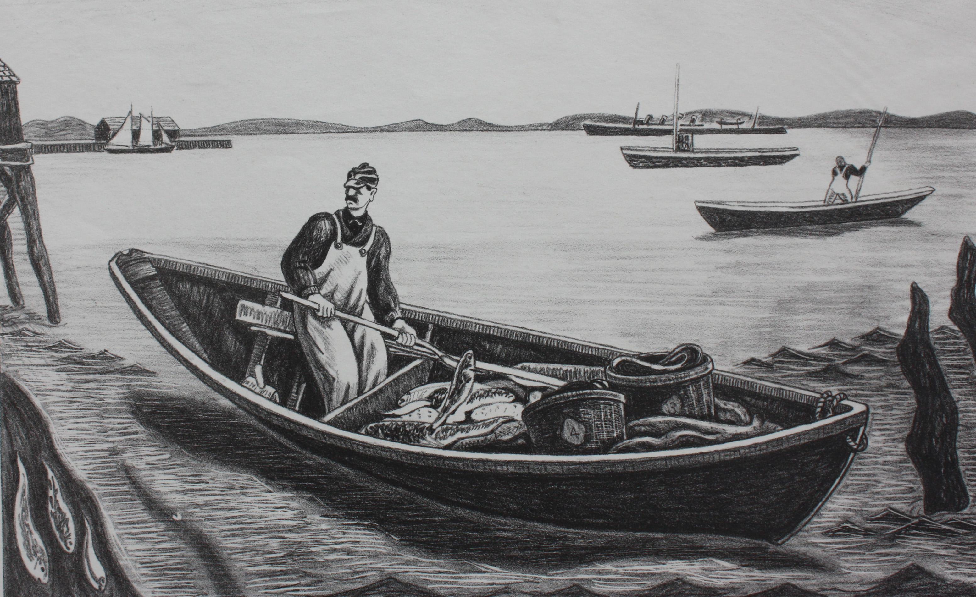 Untitled [Fisherman in Dory]