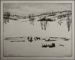 'Ice Cutting, Shankpainter's Pond'