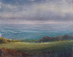 'Sunlit Hillside, Windy Day'