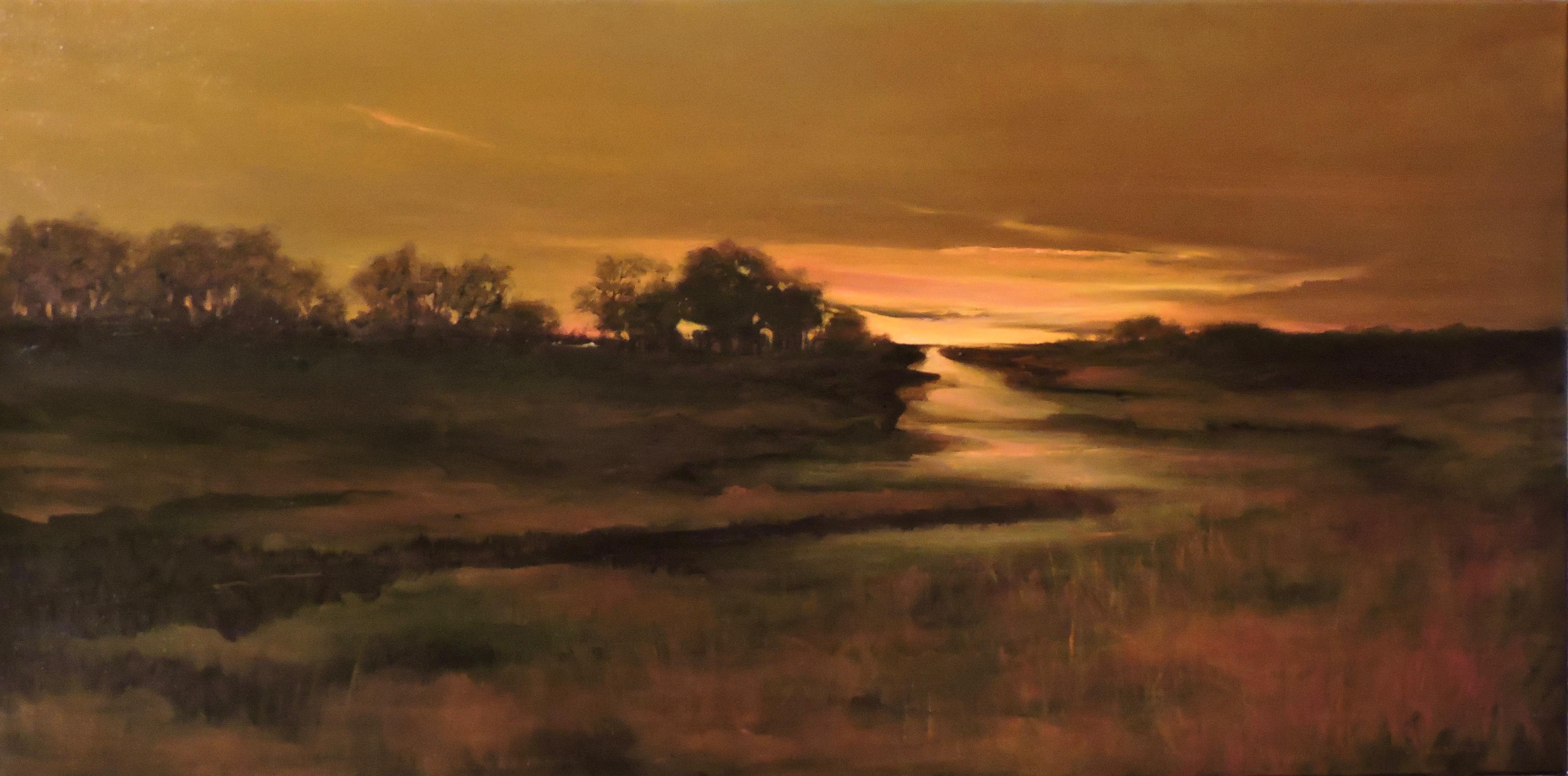lazeren.Tidal Marsh.18x36.oil