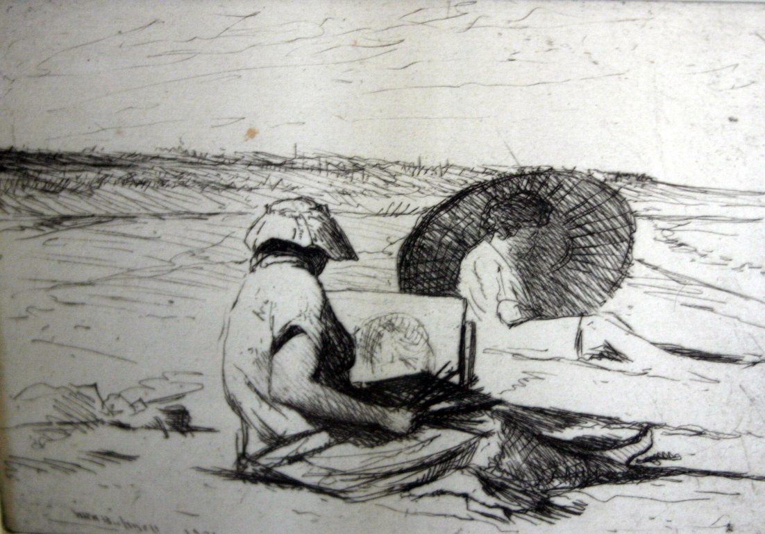 'Painting at the Beach'