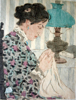 """""""Woman Sewing"""""""