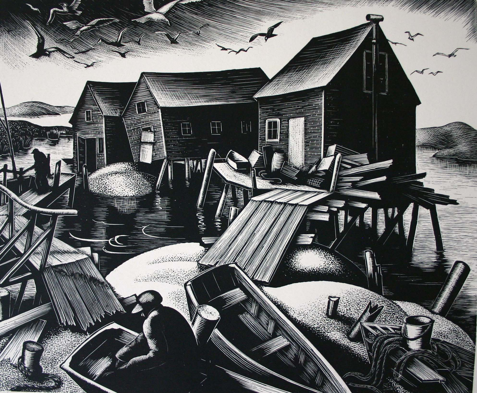 """Oyster Houses, Cape Cod"""