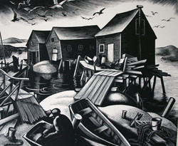 """""""Oyster Houses, Cape Cod"""""""