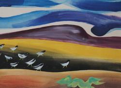 """Shore Birds on Dune"""