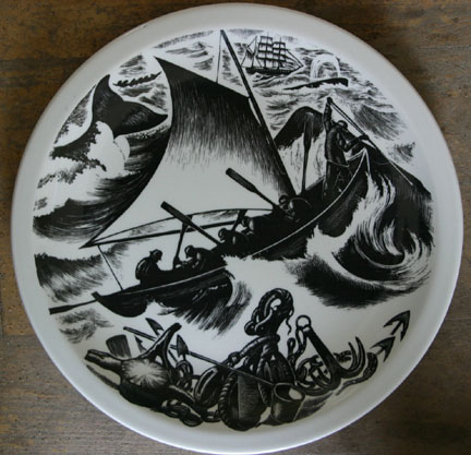 """Whaling"" plate"