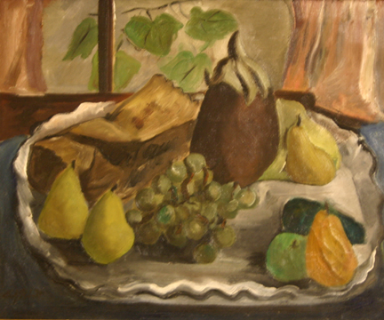 Untitled [Still Life with Pears and Grapes]